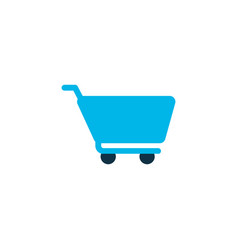 cart icon colored symbol premium quality isolated vector image