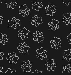 Cat or dog footprint dark seamless pattern vector