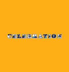 Celebration concept word art vector