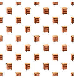 Chest drawers pattern vector