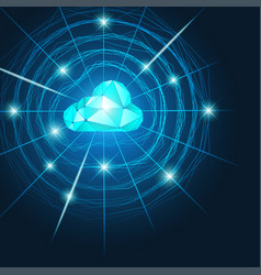 cloud web vector image