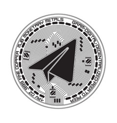 Crypto currency gram black and white symbol vector