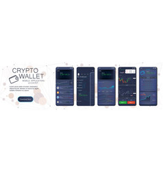 crypto wallet mobile app template vector image