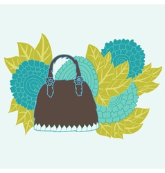 Decorative handbag vector
