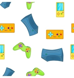 Electronic games pattern cartoon style vector