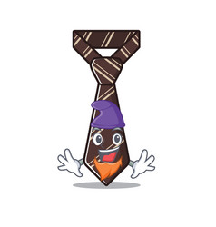 Elf cool tie character in mascot vector
