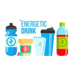 energetic drink energy icon bottle sport vector image
