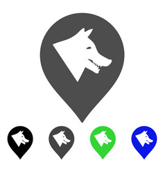 evil dog marker flat icon vector image