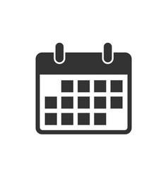 Flat calendar web mobile icon calender on vector