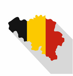 Germany map icon flat style vector