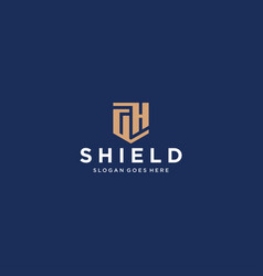 Gh letter shield icon vector