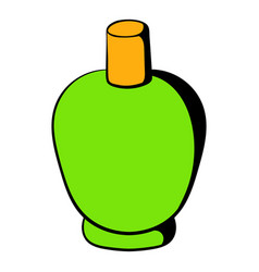 green cosmetic bottle icon icon cartoon vector image