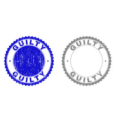 Grunge guilty scratched stamps vector