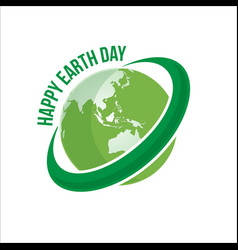 happy earth day logo vector image
