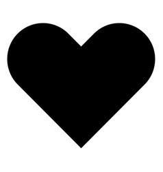 Heart the black color icon vector