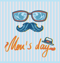 hipster style mens day concept background hand vector image