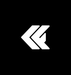 Initial letter k or c f logo template with arrow vector