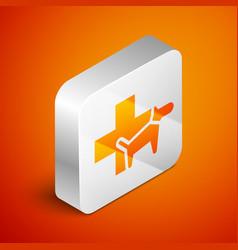 isometric veterinary clinic symbol icon isolated vector image