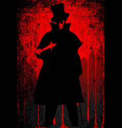 Jack the ripper blood background vector