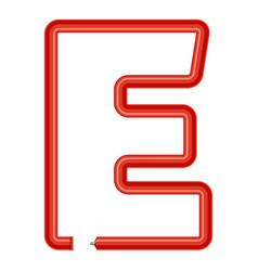 letter e plastic tube icon cartoon style vector image