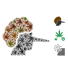 Lier collage of marijuana vector