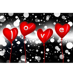 Love balloons vector
