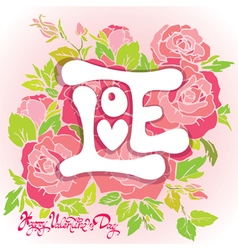 love rose 3 380 vector image
