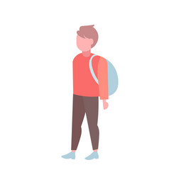 man student standing with backpack casual guy male vector image