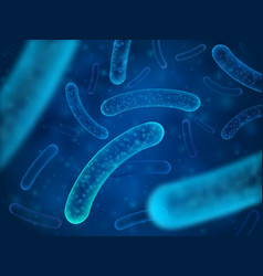 micro bacterium and therapeutic bacteria organisms vector image