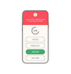 Mobile app question and answers modern flat style vector