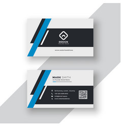 Modern professional business card template design vector