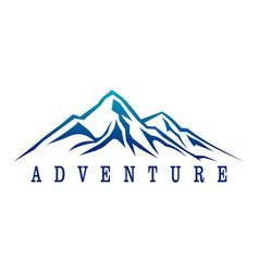 mountain adventure abstract logo icon vector image