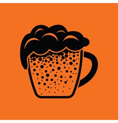 Mug of beer icon vector