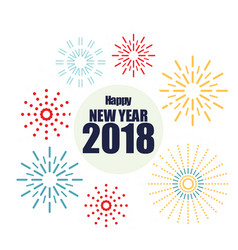 New year 2018 firework image vector
