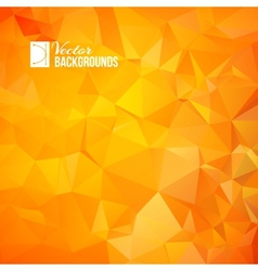 Orange triangle vector image
