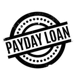 payday loan rubber stamp vector image