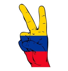 Peace Sign of the Colombian flag vector