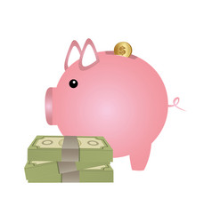 Pig save money housing vector