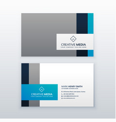 professional gray and blue business card design vector image