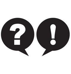 question mark and exclamation point icon black vector image