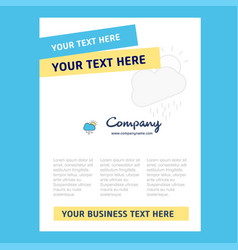 raining title page design for company profile vector image