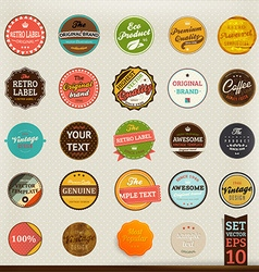 Retro label collection vector