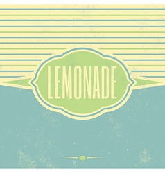 Retro Lemonade Vintage Template vector image