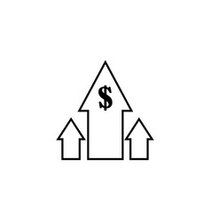 Rising business profit icon vector