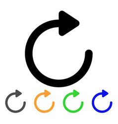 Rotate right stroke icon vector