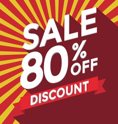 Sale 80 persent off discount vector image