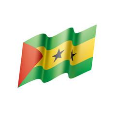 Sao tome and principe flag vector