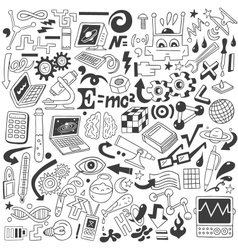 Science - doodles collection vector image