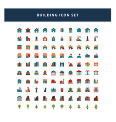 set building icon with flat style design vector image