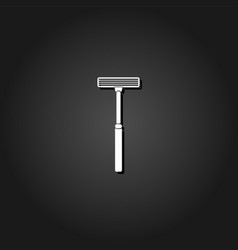 shaving razor icon flat vector image